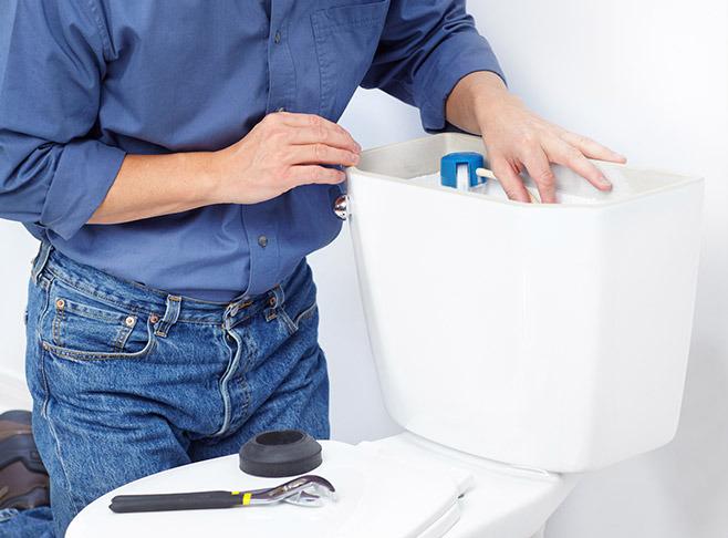 Réparer une fuite de WC broyeur