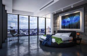 Une chambre à coucher luxe